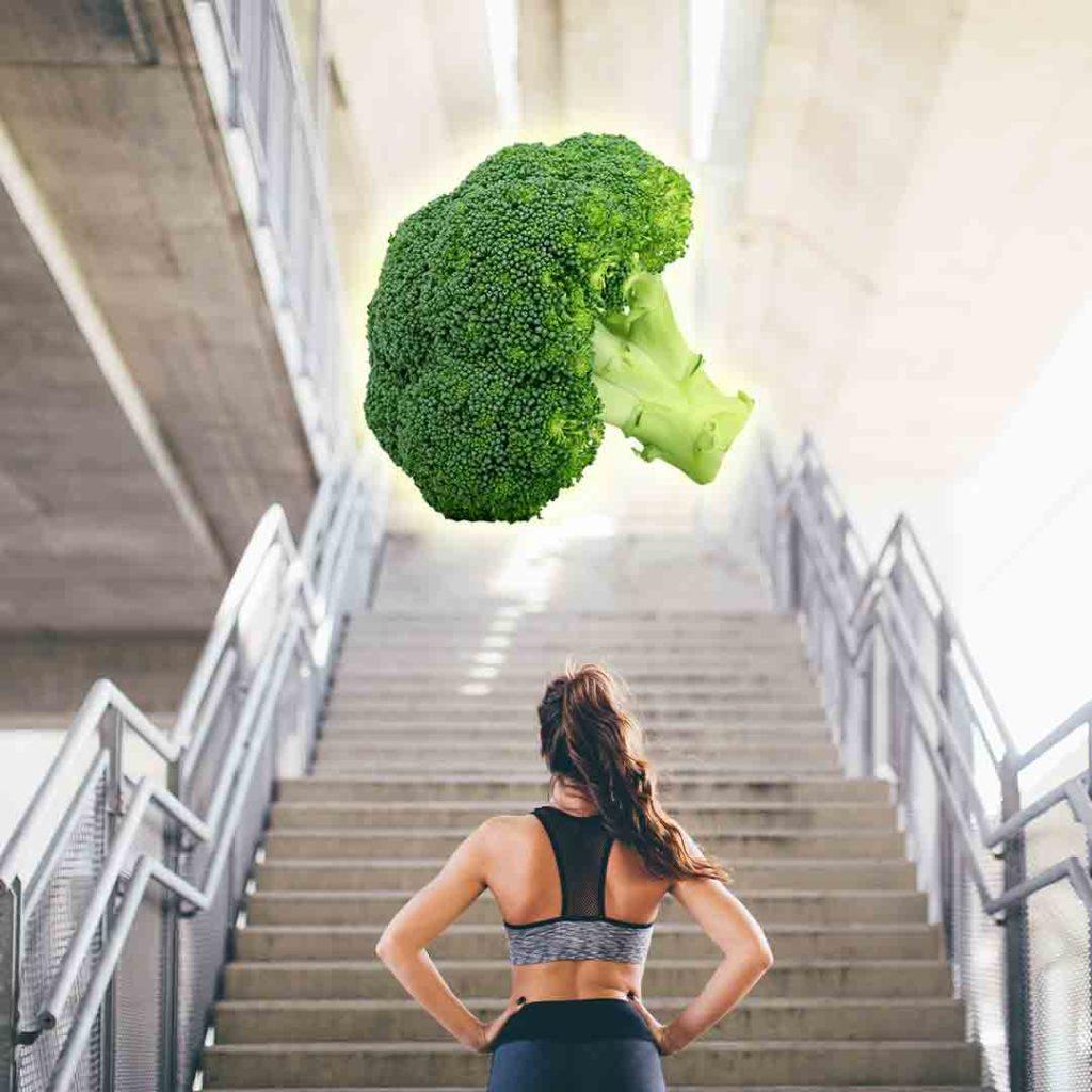 Vegan djevojka pred stepenicama