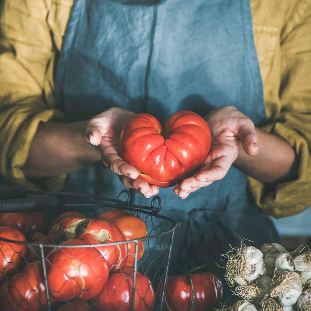 Rajčica u obliku srca.
